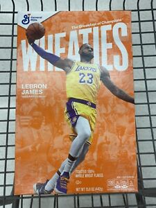 LEBRON JAMES Wheaties Box LA Lakers 15.6 oz Full Cereal Box RARE,  IN HAND 🔥