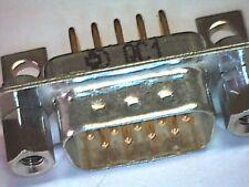 Sub-D-Stecker 9pol zweireihig DS9 D-Sub Print 90° mit UNC-Gewinde DELCONEC®