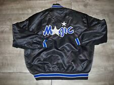 Vintage 90s Delong Satin Orlando Magic Men's Jacket Coat Made in USA Size Large