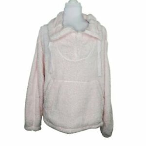 Free People Women's Big Sky Faux Shearling 1/4 Zip Front Pullover Size Small