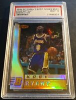 1996 KOBE BRYANT BOWMANS BEST REFRACTOR RC ROOKIE  PSA 9 LAKERS (673)