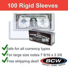 ACID FREE 2 MIL THICK 6 1//2 LONG GOOD FOR FRACTIONAL 100 BCW CURRENCY SLEEVES