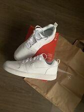 Zapatos de cuero nuevo Nike Court Borough Baja Zapatillas Sneakers blanco tamaño UK 9 EU 44