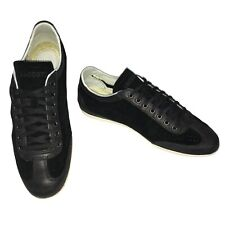 LACOSTE Misano Black Suede Trainers Size 7 UK Lace Up Mens Trainers