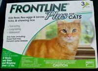 *FRONTLINE Plus for Cats Flea and Tick Medicine Cat Feline 3 Month Supply Kitten