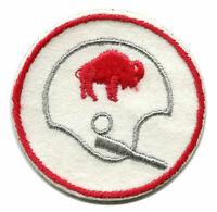 "1970'S BUFFALO BILLS NFL FOOTBALL VINTAGE 2.5"" ROUND TEAM HELMET LOGO PATCH"
