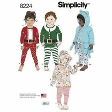 Simplicity Sewing Pattern 8224 SZ 1/2-4 Toddlers Childs Hooded Robe Top Legging