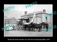 OLD LARGE HISTORIC PHOTO OF STREAKY BAY VICTORIA, VIEW OF THE POST OFFICE c1910