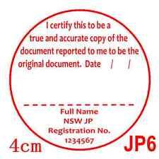 Personalised Custom Self ink Certify Justice of Peace/JP True Copy Stamp 40mmJP6