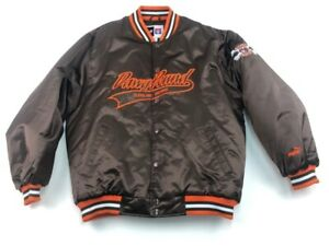 Cleveland Browns Puma Mens Bomber Jacket Brown Snap Dawg Pound Football Coat M