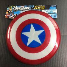 "Captain America Flying Shield Hasbro Avengers 10.5"" never used w/marks b"