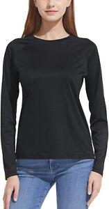 CQR Women's UPF 50+ Long Sleeve UV/Sun Protection Outdoor Hiking T-Shirt