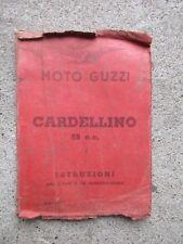 Libretto per uso e manutenzione MOTO GUZZI CARDELLINO 65 c.c.ORIGINALE