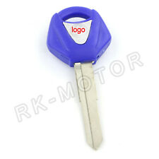 1PCS Blank Blade Motorcycle Uncut Key For YAMAHA YZF Right Slot Blue Color