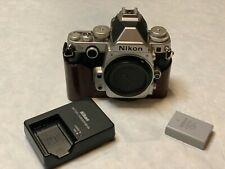 Nikon Df 16.2 MP Digital SLR Camera - Silver (Body Only) with Leather Half Case