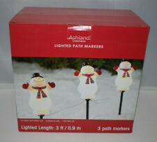 Ashland Christmas Lighted Snowman Path Markers - NIB