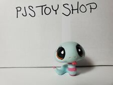 Littlest Pet Shop LPS pink + blue snake #1259 Authentic w/ Free Gift