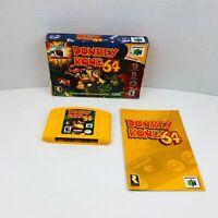 Donkey Kong 64 Nintendo 64 N64 Video Game Cartridge Box Manual No Expansion Pack