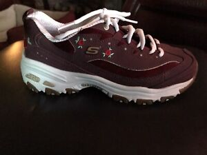 sketchers bright blossom floral burgundy 7 Sneakers