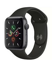 APPLE WATCH SERIES 5 44mm BAND GPS SPACE GRAY ALUMINUM CASE BLACK SPORTS BAND