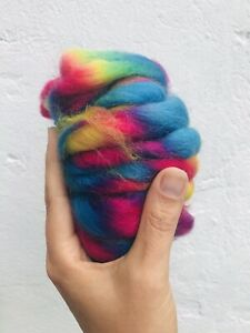 20g Pure Merino Wool Tops Roving. Bright rainbow colours felting and spinning