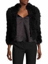 $800 IRO Kald Lamb Shearling Jacket in FR 36, US XS/S Black