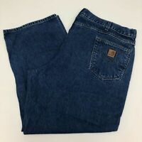 Carhartt Jeans Mens 44X30 Blue Straight Leg Regular Fit 100% Cotton Medium Wash