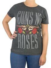 BNWT Womens Guns N Roses T-Shirt XS 6 8 Grey Top Tee