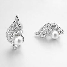 Pearl White Gold Plated Clip - On Fashion Earrings