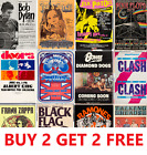 MUSIC & GIG CONCERT POSTERS Rock Blues Alt Vintage Pub Bar Shop Cafe Club A4