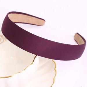 Women Girls Retro DIY Wide Headband Headwear Headpiece Color Bands Hair Hoops