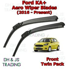 (16-19) Ford KA+ Aero Wiper Blades / Front Windscreen Flat Blade Wipers KA +