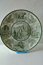 Yosemite Souvenir Plate Enco National Pottery USA/Mint