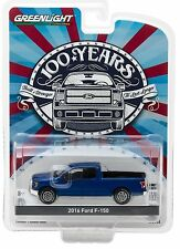 1:64 GreenLight *ANNIVERSARY COLLECTION 5* Blue 2016 Ford F-150 Pickup *NIP*