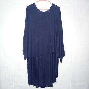 Coco Carmen Poncho Women Size OS Blue