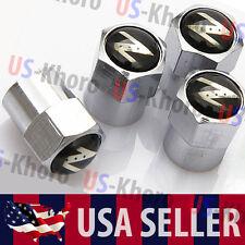 350z 370z Nissan Z Logo Valves Stems Caps Covers Chromed Wheel Tire Emblem USA
