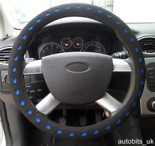 UNIVERSAL BLUE BLACK COMFY FOAM CAR STEERING WHEEL WHEEL COVER GLOVE PADDED N2