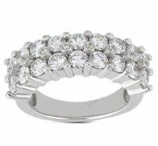 4.70 carat Round Diamond Wedding Ring Mens 14k White Gold Band F color Si1