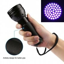 51 LED 395 nM UV Ultra Violet Flashlight Blacklight Torch Light Lamp Aluminum dd