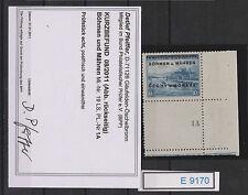 (e9170) b&m. Nº 19 ** e-3 avec pl.nr.1a examiné avec fotobefund