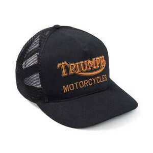 Triumph Motorcycles Oil Trucker Hat - Black / Gold | Fast Delivery