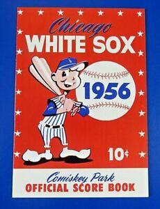 1956 CHICAGO WHITE SOX SCORECARD PROGRAM vs KANSAS CITY A's ~ NM/MT ~
