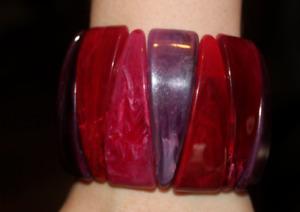 Vintage Retro Style Bracelet Purple Red Pink
