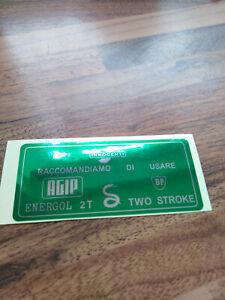 Lambretta Petrol Tank Flap Sticker GREEN Pre-1966 Great Quality