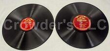 "Victrola Good-Bye 88065 Nellie Melba & On Wings of Song 74583 Jascha Heifetz 12"""