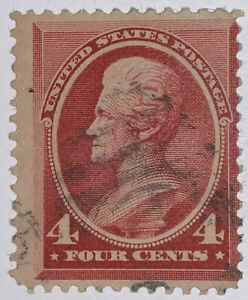 TRAVELSTAMPS: 1888 US Stamps Scott # 215, Used, No Gum, 4 cents, Jackson