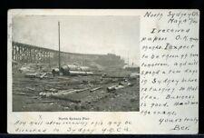 North Sydney Cape Breton Pier 1904 post card  Canada
