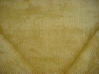 18-3/8Y ROBERT ALLEN LEMONGRASS CITRON PLUSH STRIPE VELVET UPHOLSTERY FABRIC