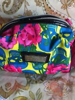 BETSEY JOHNSON VINTAGE NEW w Tags- LOAF -MAKE-UP BAG-SKULLS IN BLOOM YELLOW