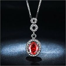 Round Necklace Pendant white gold plated jewelry for women